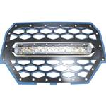"Polaris RZR 900/1000 Blue Grille with LED 10"" Light Bar Kit"