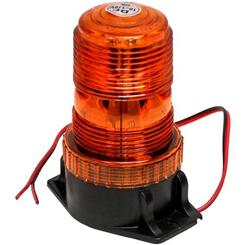 KM LED Amber Warning Beacon Light with Fixed Mount