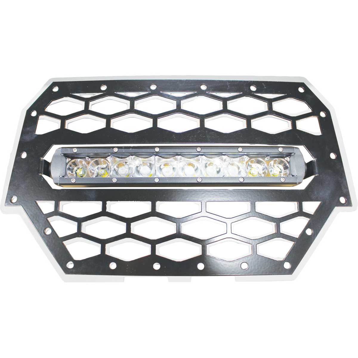 "Polaris RZR 900/1000 Silver Grille with LED 10"" Light Bar Kit"