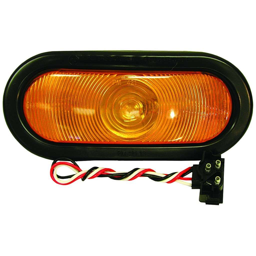 Oval Amber Turn Signal Light 6-Pk